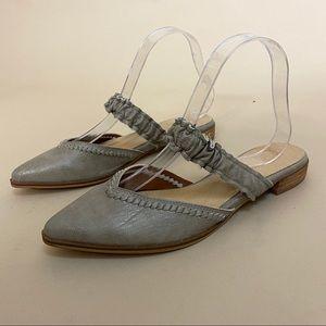 Mi.im Alicia Ruffle Strap Leather Mules 8.5